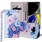 For Galaxy Note 9 Butterfly Horizontal Flip Leather Case with Holder, Card Slots & Wallet