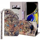 For Galaxy Note 9 Leopard Horizontal Flip Leather Case with Holder, Card Slots & Wallet