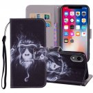 For iPhone XR Chimpanzee Horizontal Flip Leather Case with Holder, Card Slots & Wallet
