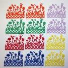 12 Flower Boxes/die cuts/paper cuts/Spellbinders/scrapbooking/Flowers/Paper Flowers/Embellishment