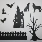 8 Piece's Of Halloween/Die Cuts/Scrapbooking/Card Making/Die Cuts/Holiday/Halloween