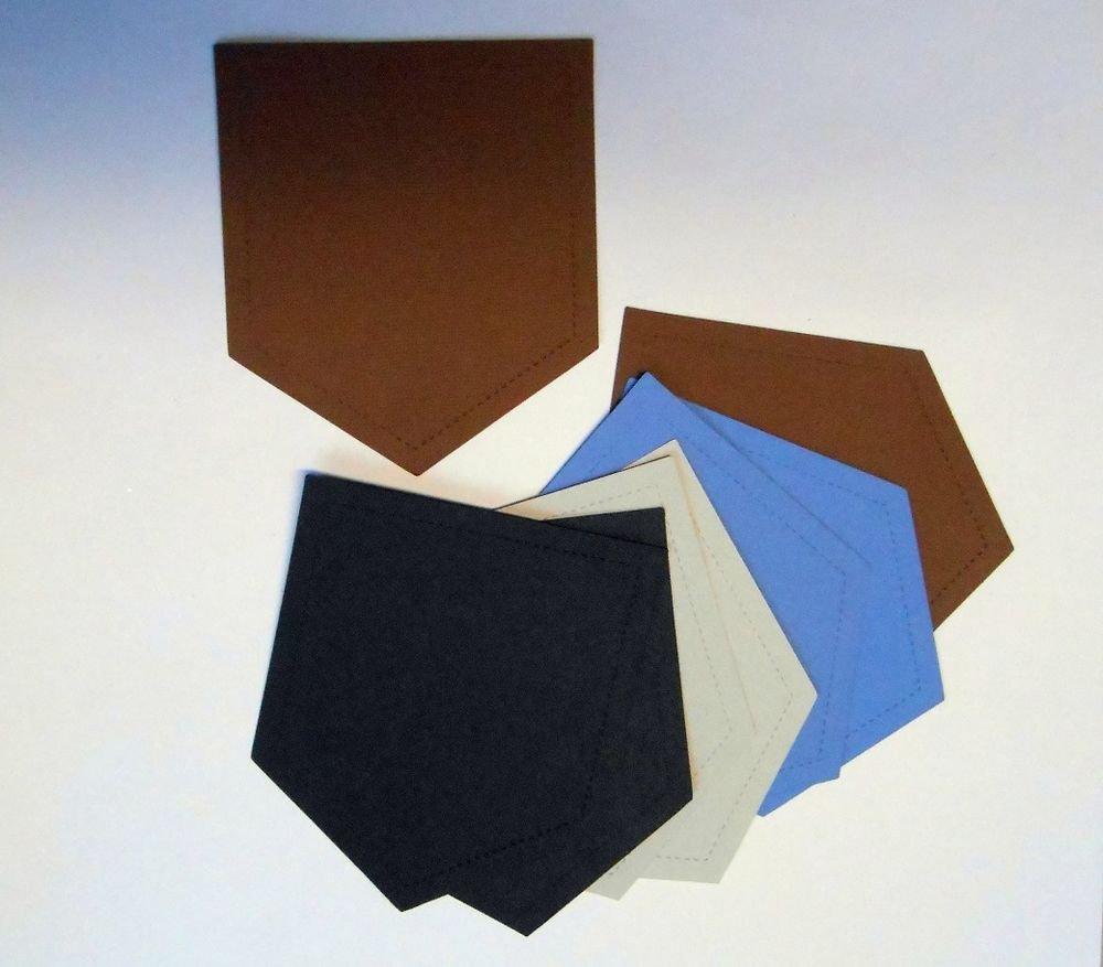 "8""Stitched Look"" Pockets/Scrapbooking/Die Cuts/Embellishments/Paper Cuts/Sizzix"