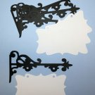 4  Hanging Sign Die Cuts/Sizzix/Scrapbooking/Embellishments/Journaling