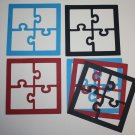6 Puzzle Picture Frames/Die cuts/Scrapbooking/Picture Frames/Embellishments/Puzzle Pieces
