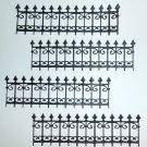4 Wrought Iron Fences/Die Cuts/Fence/Embellishments/Paper Cuts/Scrapbooking/Spellbinders