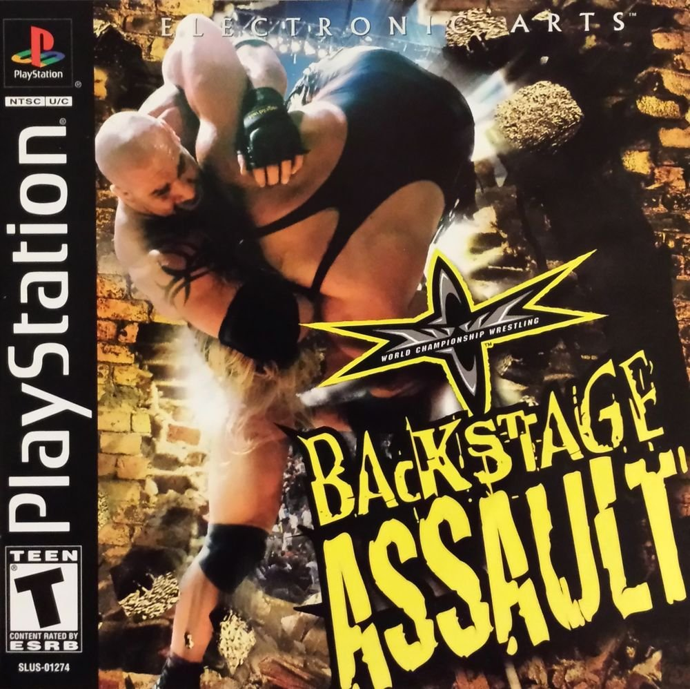WCW Backstage Assault PS1 Great Condition Fast Shipping
