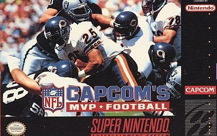 Capcom's MVP Football SNES Great Condition