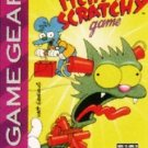 Itchy & Scratchy Game Game Gear Great Condition Fast Shipping