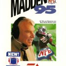 Madden NFL '95 Sega Genesis Great Condition Fast Shipping