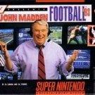 John Madden Football '93 SNES Great Condition Fast Shipping