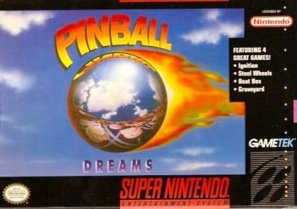 Pinball Dreams SNES Great Condition Fast Shipping
