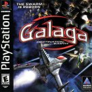 Galaga Destination Earth PS1 Great Condition Complete Fast Shipping