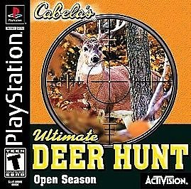 Cabela's Ultimate Deer Hunt Open Season PS1 Great Condition Complete