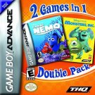 Finding Nemo & Monsters Inc. GBA Great Condition Fast Shipping