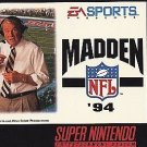 Madden NFL '94 SNES Great Condition Fast Shipping