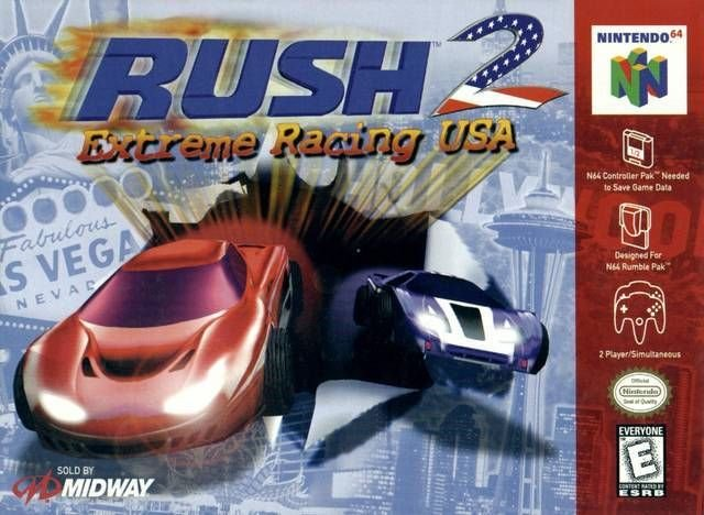 Rush 2 Extreme Racing USA N64 Great Condition Fast Shipping