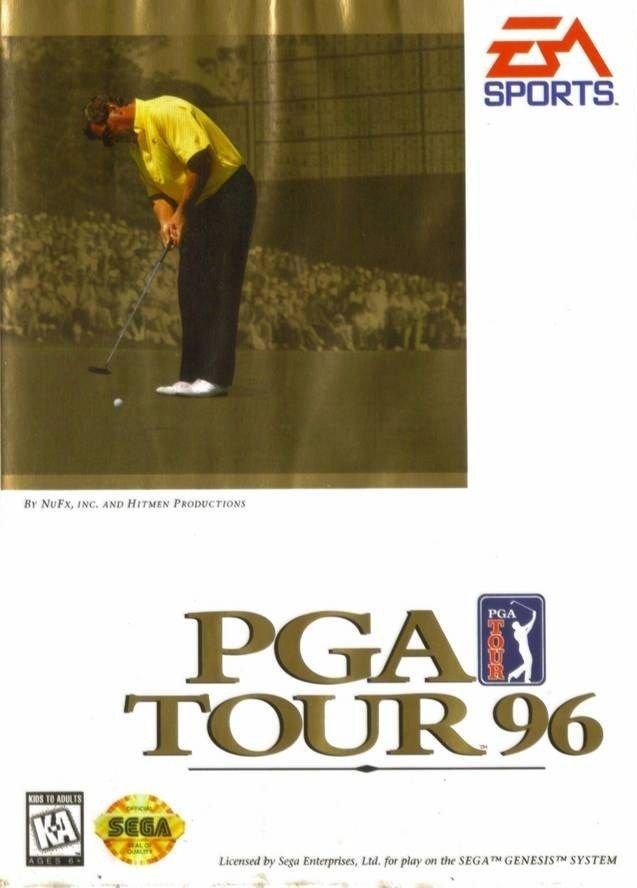 PGA Tour 96 Sega Genesis Great Condition Complete Fast Shipping