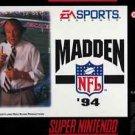 Madden NFL 94 SNES Great Condition Fast Shipping