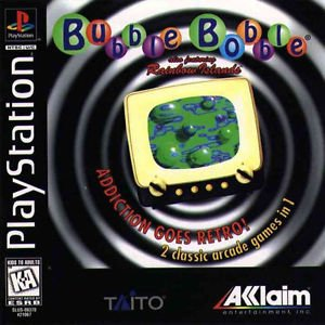 Bubble Bobble Also Featuring Rainbow Islands PS1 Great Condition Fast Shipping