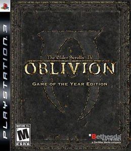 Elder Scrolls IV Oblivion Game Of The Year Edition PS3 Great Condition Complete
