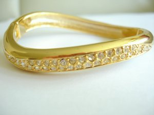 Yellow Gold Plated + Cubic Zirconia