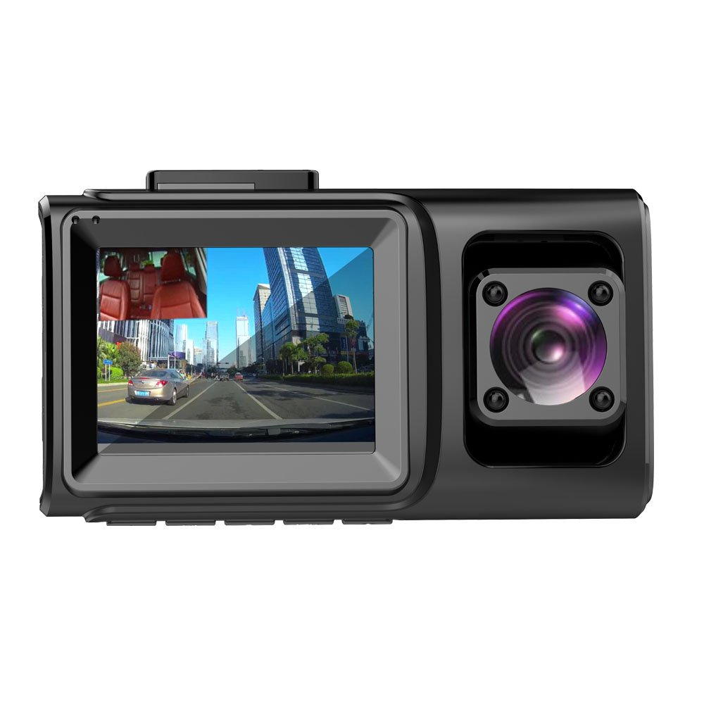 Dual Dash Cam Front and Inside 1080P,Infrared Night Vision,Built-in GPS Wi-fi,Sony Sensor