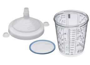 SATA #125062 0.6-Liter Disposable Cups with Lids, Filters and Flat Sieves (125 µ), 57-pk