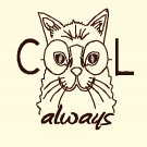 Cool Always Cat Embroidery