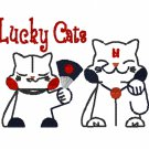 Lucky Cats Embroidery File
