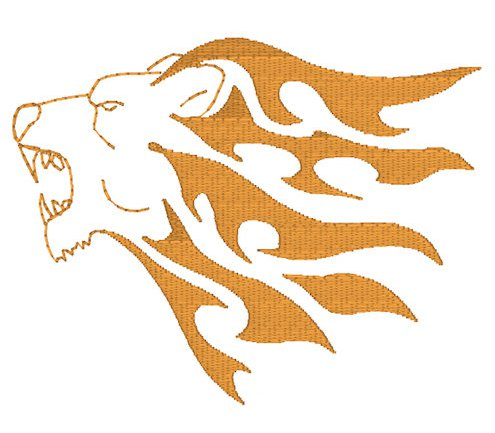 Lion Head Embroidery File