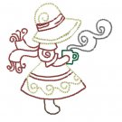 Color Work Sun Sue Bonnet in the winter Embroidery File