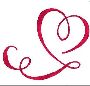 Swirly Heart Embroidery File