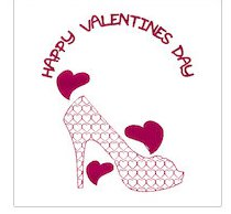 High Heel Show Valentine Embroidery File