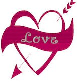 Arrow through the Heart Embroidery File