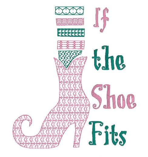 If the shoe fits Embroidery File