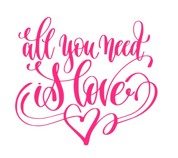Download All You Need is Love SVG,DXF,PNG,EPS,JPG,and PDF Files ...
