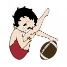 Betty Boop With Football SVG,DXF,PNG,EPS,JPG,and PDF files INSTANT DOWNLOAD