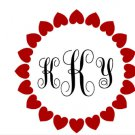 Heart Monogram Frame SVG,PNG,EPS,JPG,DXF,and PDF files
