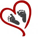 Heart with Baby Footprints SVG,DXF,PNG,EPS,JPG,and PDF files INSTANT DOWNLOAD