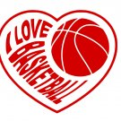I Love Basketball SVG,PNG,EPS,DXF,JPG,and PDF Files INSTANT DOWNLOAD