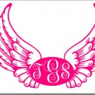 Monogram Wings Frame SVG,DXF,PNG,EPS,JPG,and PDF files