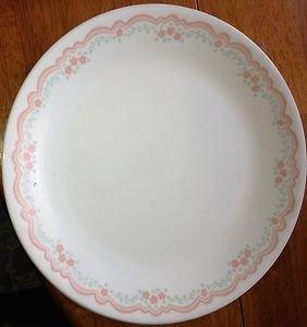Corelle Lorraine pink flowers Dinner Plate Very Nice