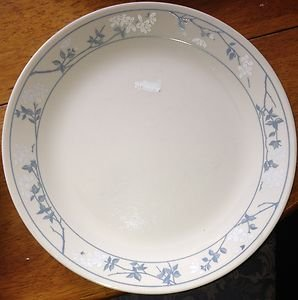 Corelle First of Spring  Beige with Blue white flower  Dinner Plate Very Nice