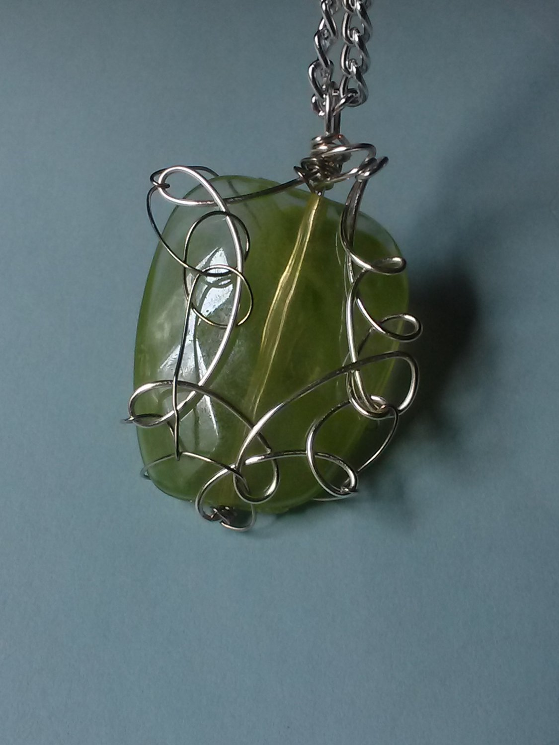 Wire Wrapped Pendant (Acrylic)