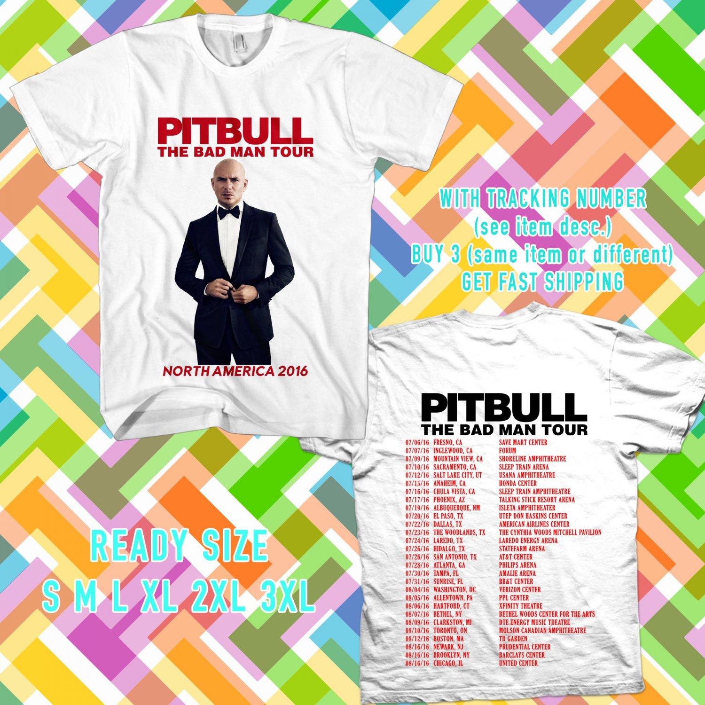 WOW PITBULL AND PRINCE ROYCE THE BADMAN TOUR 2016 WHITE TEE S-3XL ASTR