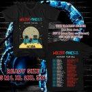 WOW WEEZER SUMMER TOUR 2016 BLACK TEE S-3XL ASTR