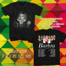 WOW BARBARA STREIND THE MUSIC THE MEM'RIES THE MAGIC TOUR 2016 BLACK TEE S-3XL ASTR111