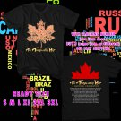 WOW THE TRAGICALLY HIP TOUR 2016 BLACK TEE S-3XL ASTR 663
