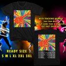 WOW THE MONKEES UNITED STATES TOUR 2016 BLACK TEE S-3XL ASTR