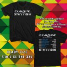 WOW EUROPE 30TH ANNIV TOUR 2016 THE FINAL COUNTDOWN BLACK TEE S-3XL ASTR 443